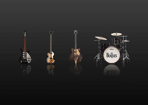 Beat of Beatles black by Six Artist