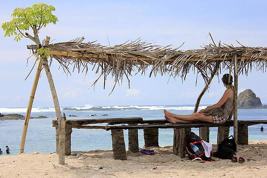 Beautiful beach and girl by Yusron Rohim