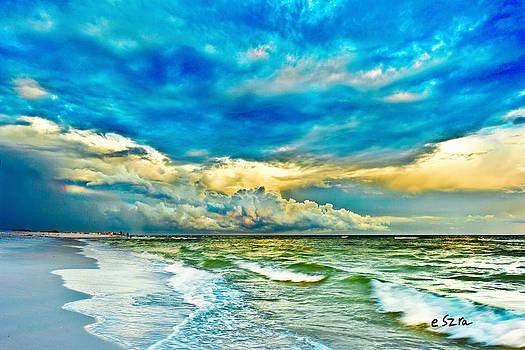 Beautiful Beach Blue Sea by Eszra Tanner
