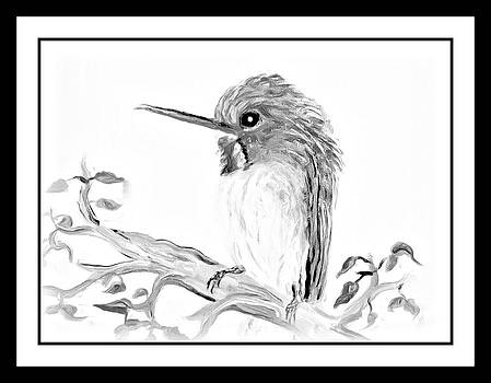 Beautiful Black And White Birdy by Cathy Turner