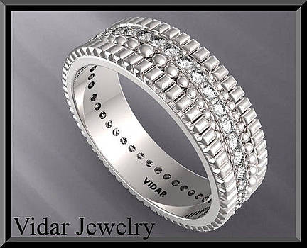 Beautiful Diamond Eternity 14k White Gold Woman Wedding Ring by Roi Avidar