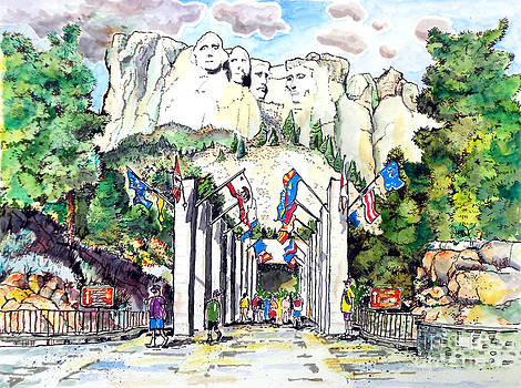Beautiful Mt. Rushmore by Terry Banderas