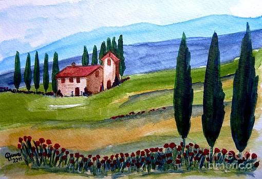 Beautiful Tuscany by Christine Huwer