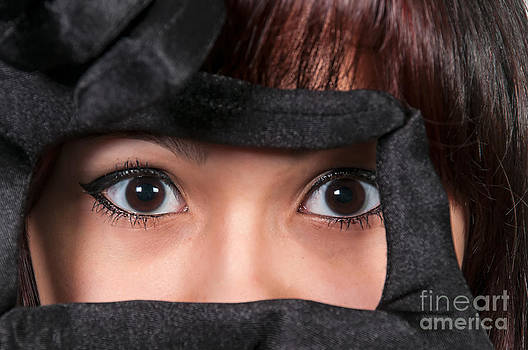 Beautiful Womans Eye by Rob Byron