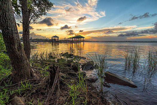 Beauty of a Back Bay Sunset by Brian Wright