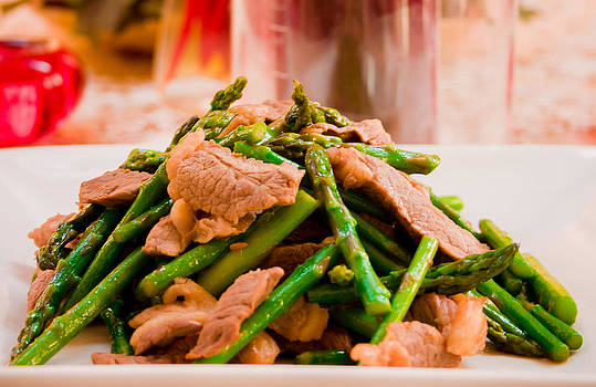 Beef and Asparagus by Kids Play