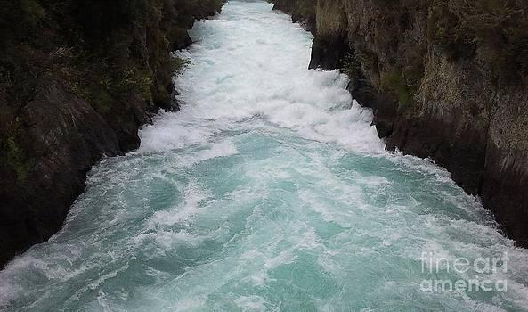 Power - Huka Falls New Zealand by Linda Hollis
