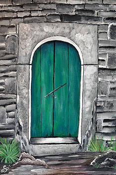 Behind The Green Door by Sherry Allen