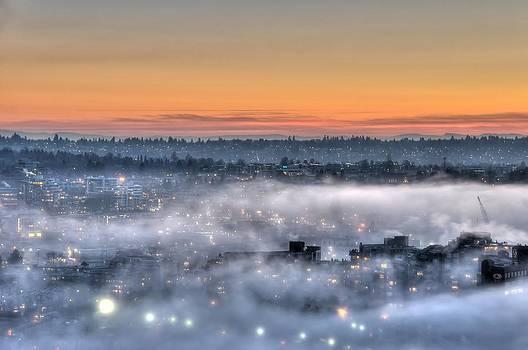 Bejeweled Foggy Sunset by Doug Farmer