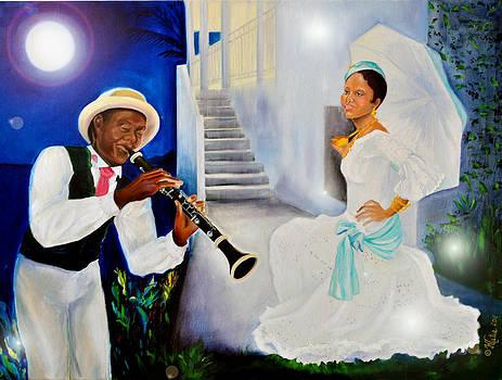 Belle Creole Aqua Blue by Katia Creole Art