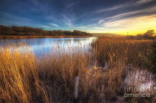 English Landscapes - Bembridge Lagoons Sunset