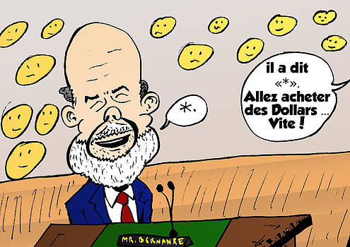 Ben Bernanke portrait comique by OptionsClick BlogArt