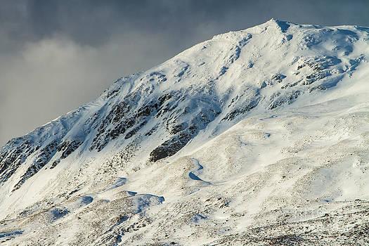 Ben Vrackie in winter Scotland by Gabor Pozsgai