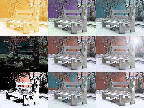 Bench X 9 by Jon Lacelle