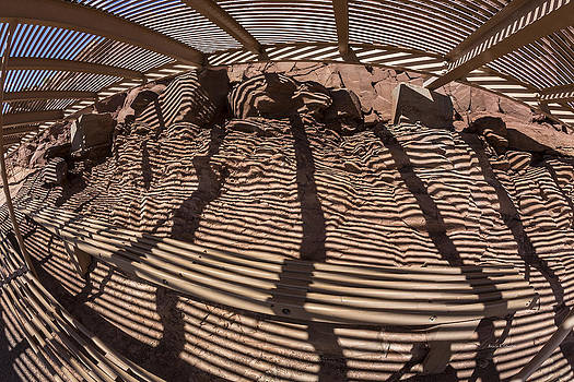 Angela A Stanton - Benches at Meteor Crater in Arizona
