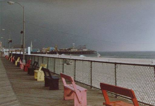 Benches of Seaside Heights NJ by Joann Renner