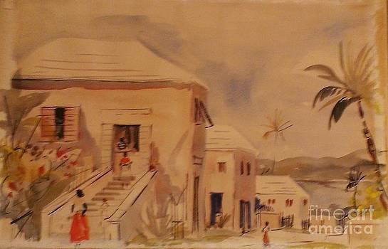 Bermuda Street Scene by Alfred Birdsey