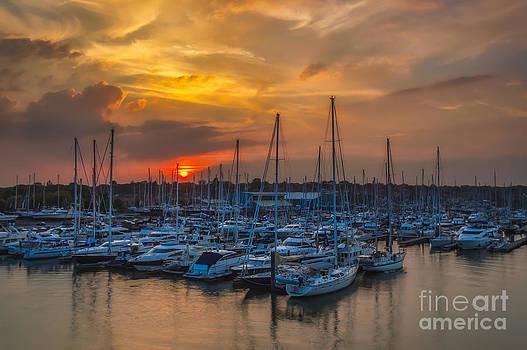 English Landscapes - Berthon Marina Sunset