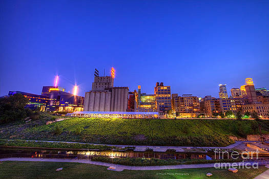 Best Minneapolis Skyline at Night Blue Hour by Wayne Moran