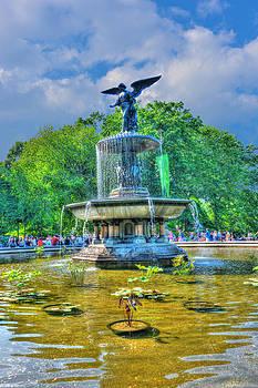Bethesda Fountain Angel Profile by Randy Aveille