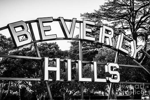 Paul Velgos - Beverly Hills Sign in Black and White