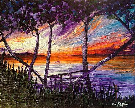Beyond the sea grape trees by Naeema Bacchus