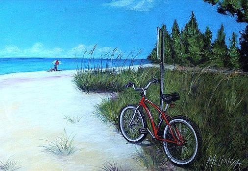 Bicycle on Sanibel Beach by Melinda Saminski
