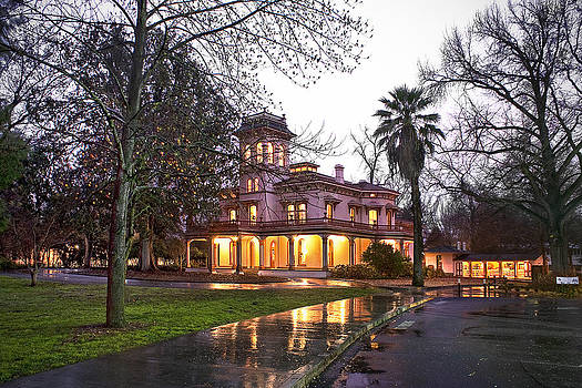 Bidwell Mansion in the Rain  by Abram House