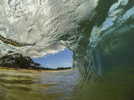 Big Beach Barrel by Brad Scott