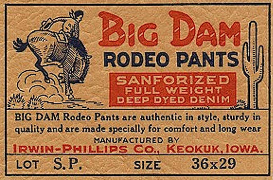 Big Dam Quality  Rodeo Pants by Jame Hayes