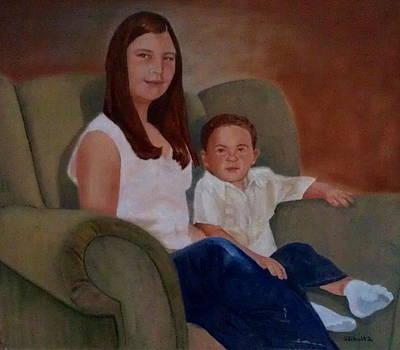 Big Green Chair by Sharon Schultz