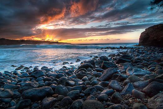 Big Island Sunset by Preston Broadfoot