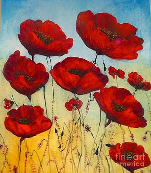 Big Poppies by Eszter Gyory
