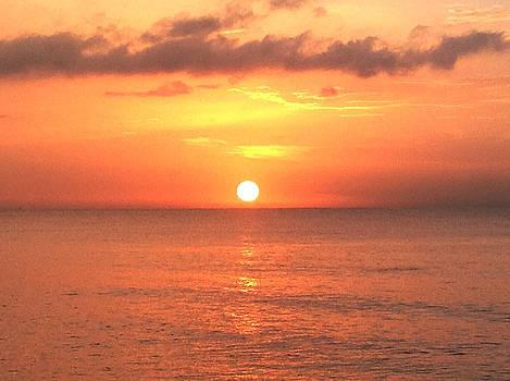 Big Sunset in Jamaica by Ann Iuen