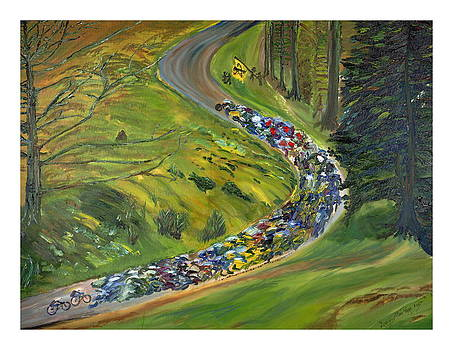 Bike Race by Impressionism Modern and Contemporary Art  By Gregory A Page