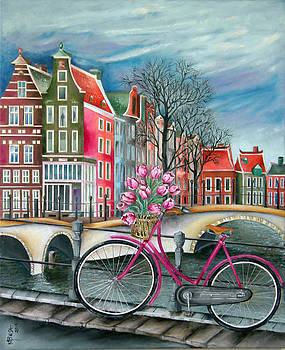 Bike Stop - Amsterdam by Miriam Besa