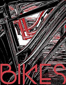 Bikes Poster -- A by Brian D Meredith