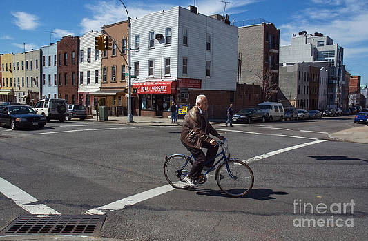 Biking in Brooklyn by Tina Osterhoudt