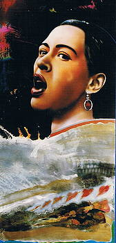 Billie Holiday by Mireille  Poulin