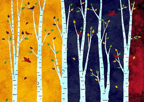 Birch Forest by Cosmin Bicu