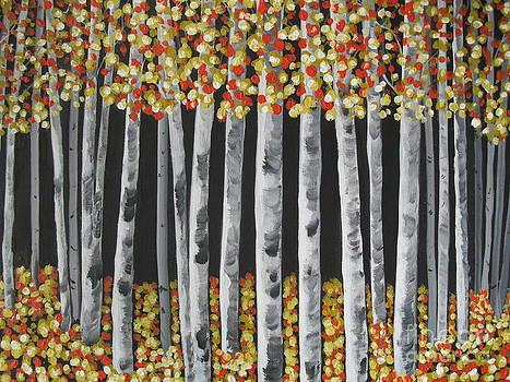 Birch Tree Impressions by Beverly Livingstone