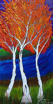 Birch Tree Of Autumn 7 by Portland Art Creations
