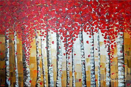Birch Trees  by Denisa Laura Doltu