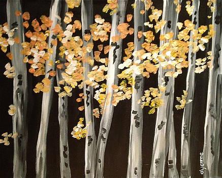 Birch Trees by Dyanne Parker