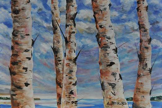 Birches by the Bay by Heather Kertzer