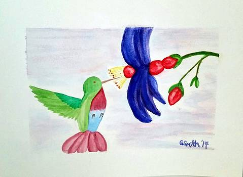 Bird and Flower by Gerry Smith