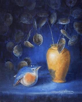 Bird And Silver Dollars by Sharen AK Harris