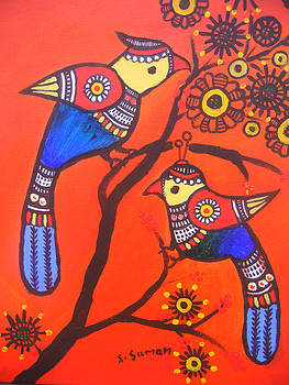 Bird Couple-children Room Decoration by Shishu Suman