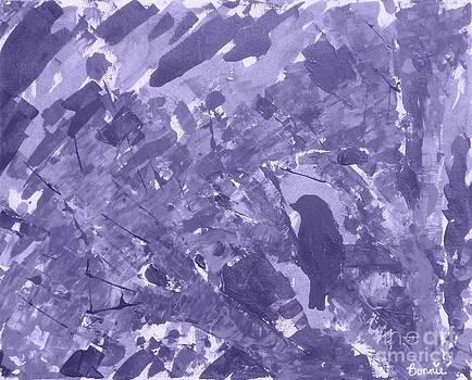 Bird in Tree Lavender by Bonnie Cushman