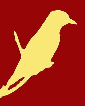 Ramona Johnston - Bird Silhouette Red Cream